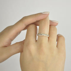 Diamonds Hexagonal Ring