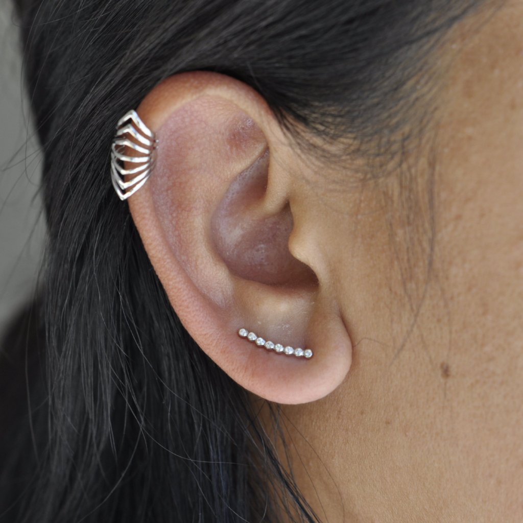 Graduated CZ Circles Ear Crawler