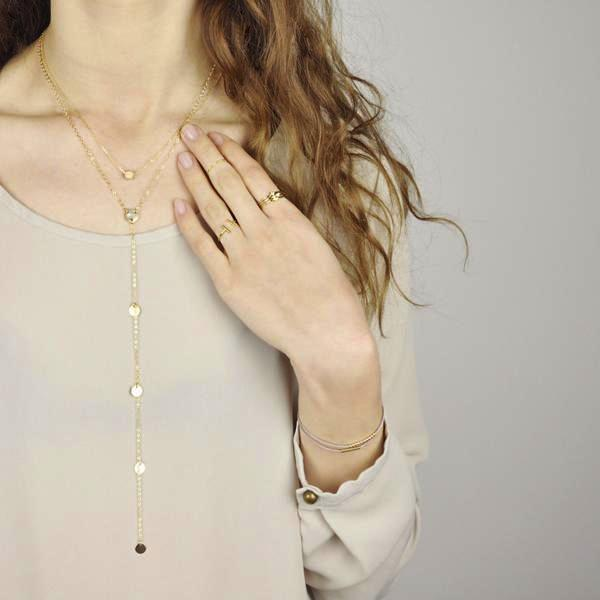 SALE - Multi-Disc Y Drop Necklace