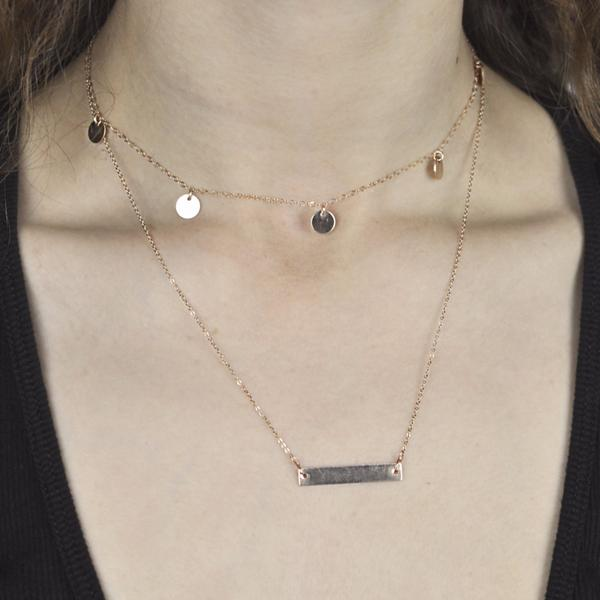 SALE - Thick Bar Necklace
