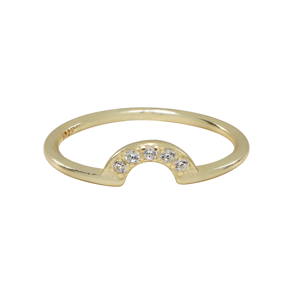 SALE - CZ Arc Ring