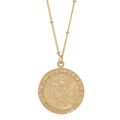Saint Christopher Disc Necklace