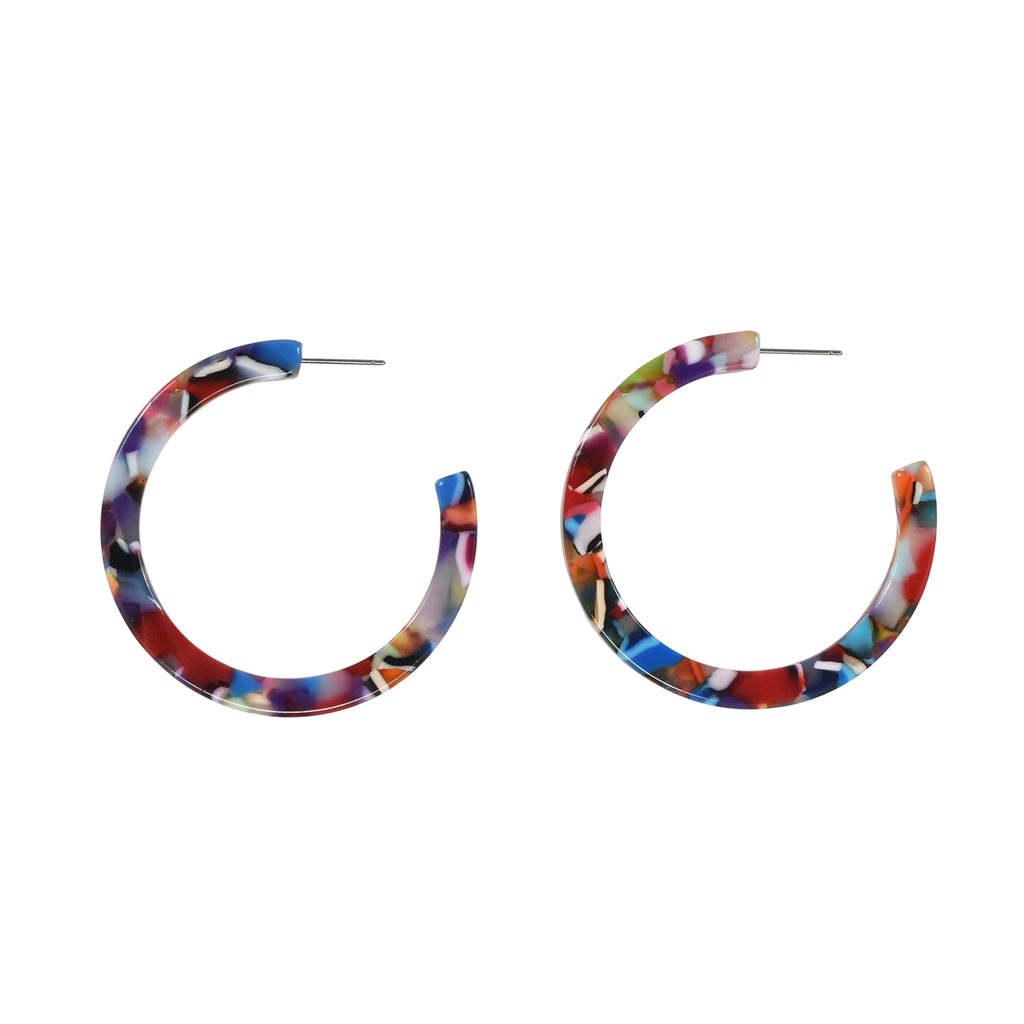 Lucite Hoops (more colors)