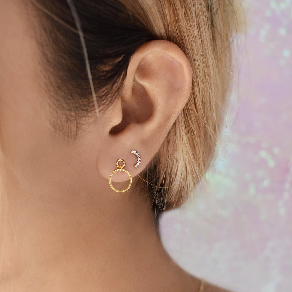10k Solid Gold Interlocking Circles Studs