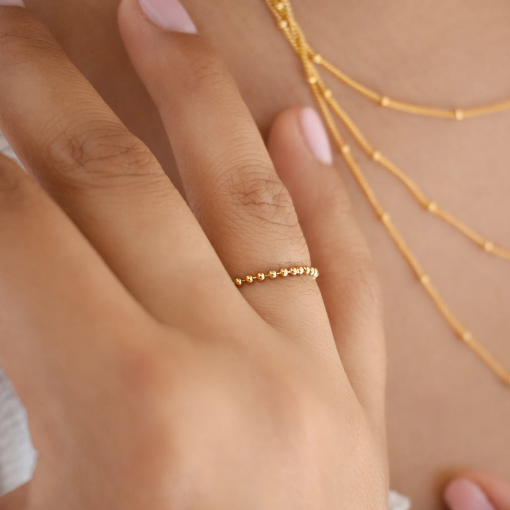 Beaded Chain Ring