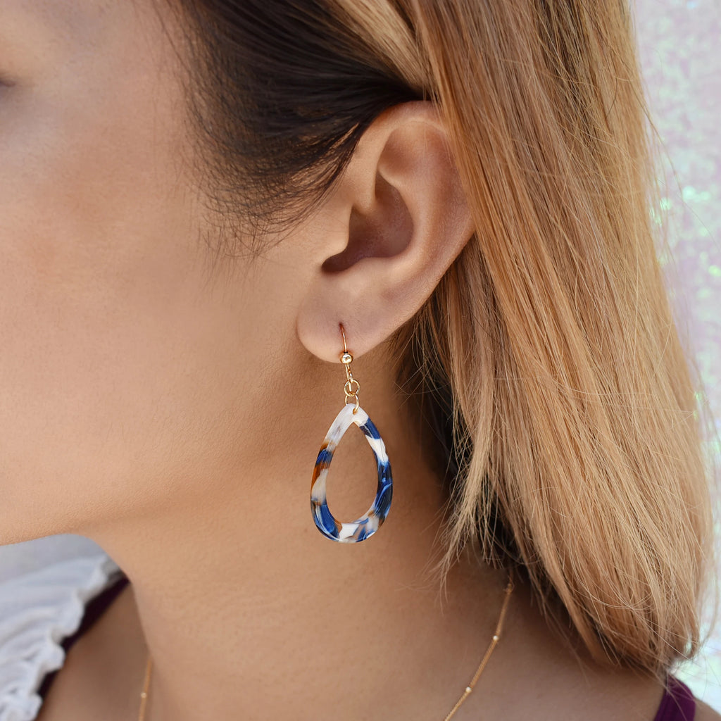 Teardrop Lucite Earrings (more Colors)