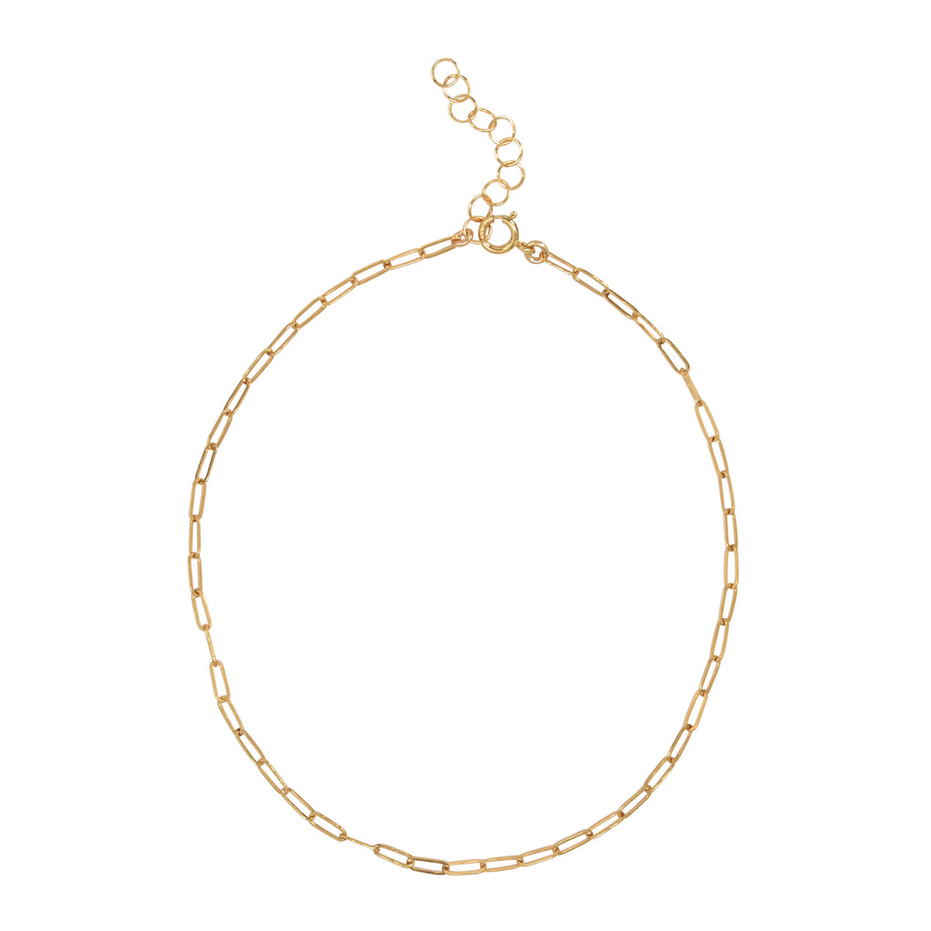 Thin Oval Link Anklet