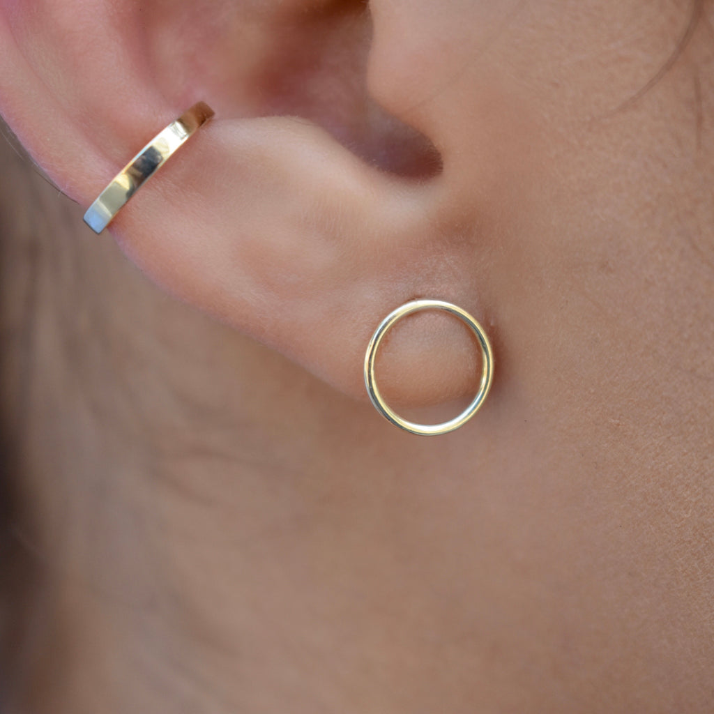 10k Solid Gold Smooth Middle Ear Cuff