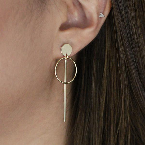 SALE - Thin Needle Hoop Studs