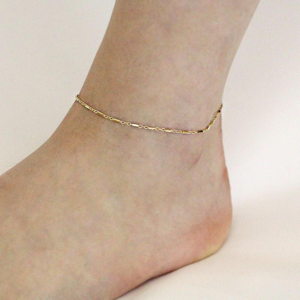 Flat Multi Bar Anklet