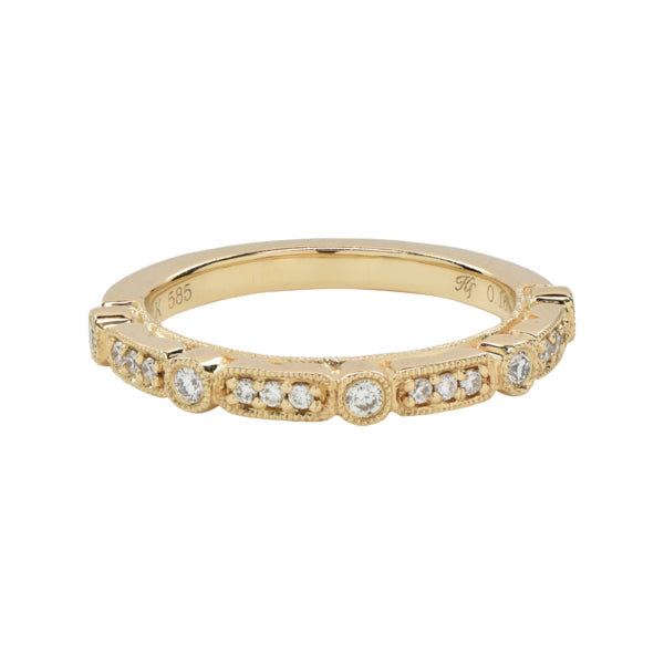 Diamond Rectangular Circle Ring