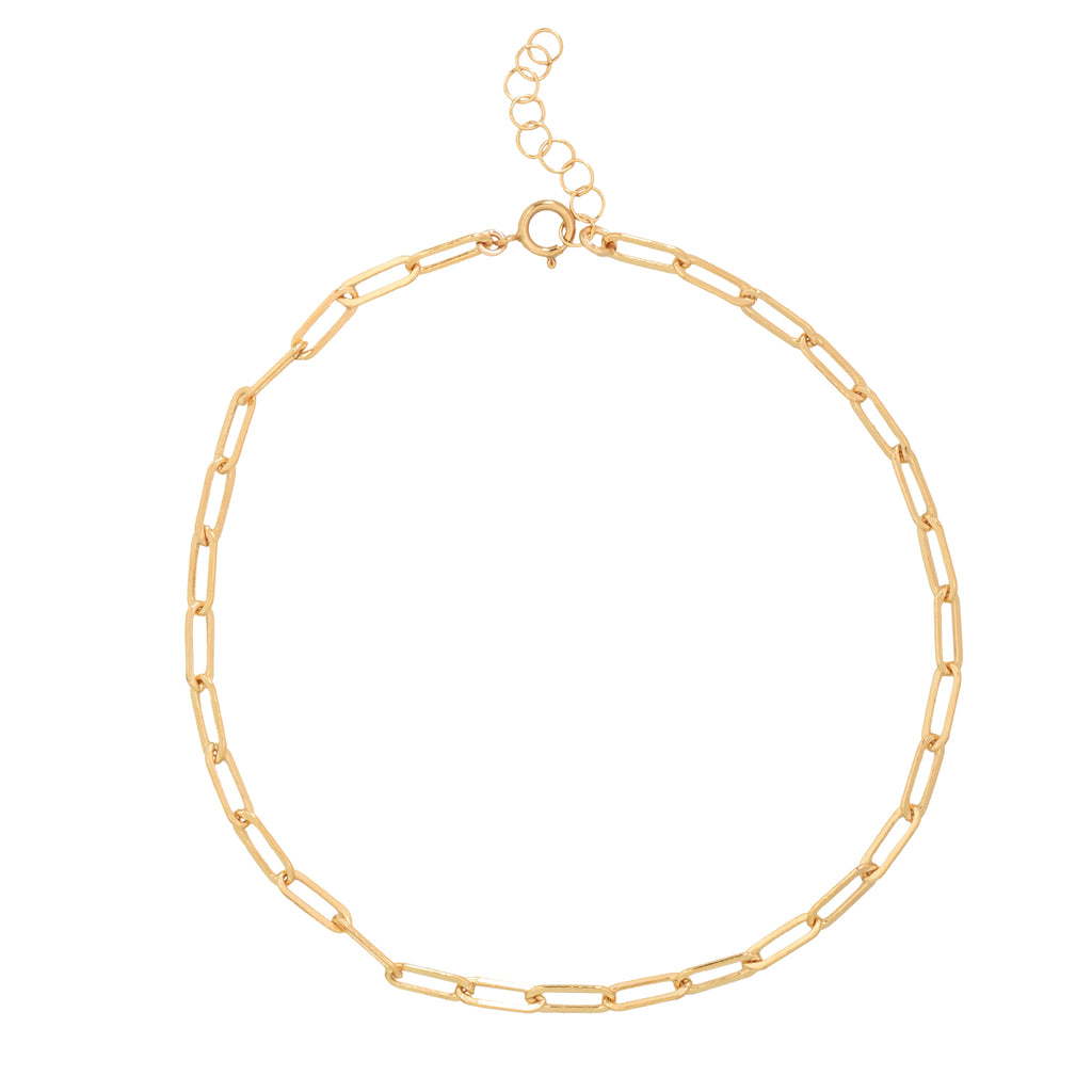 Oval Link Chain Anklet