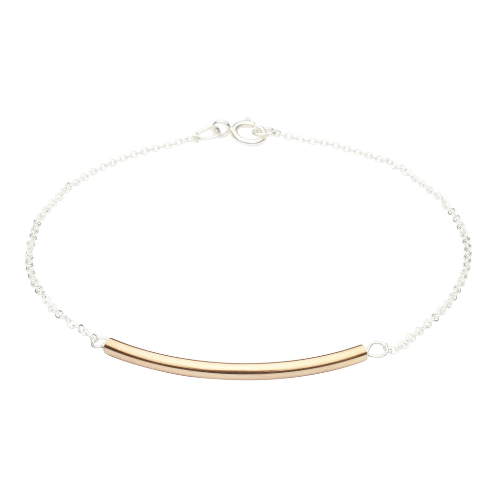 SALE - 2-Tone Curved Tube Bracelet