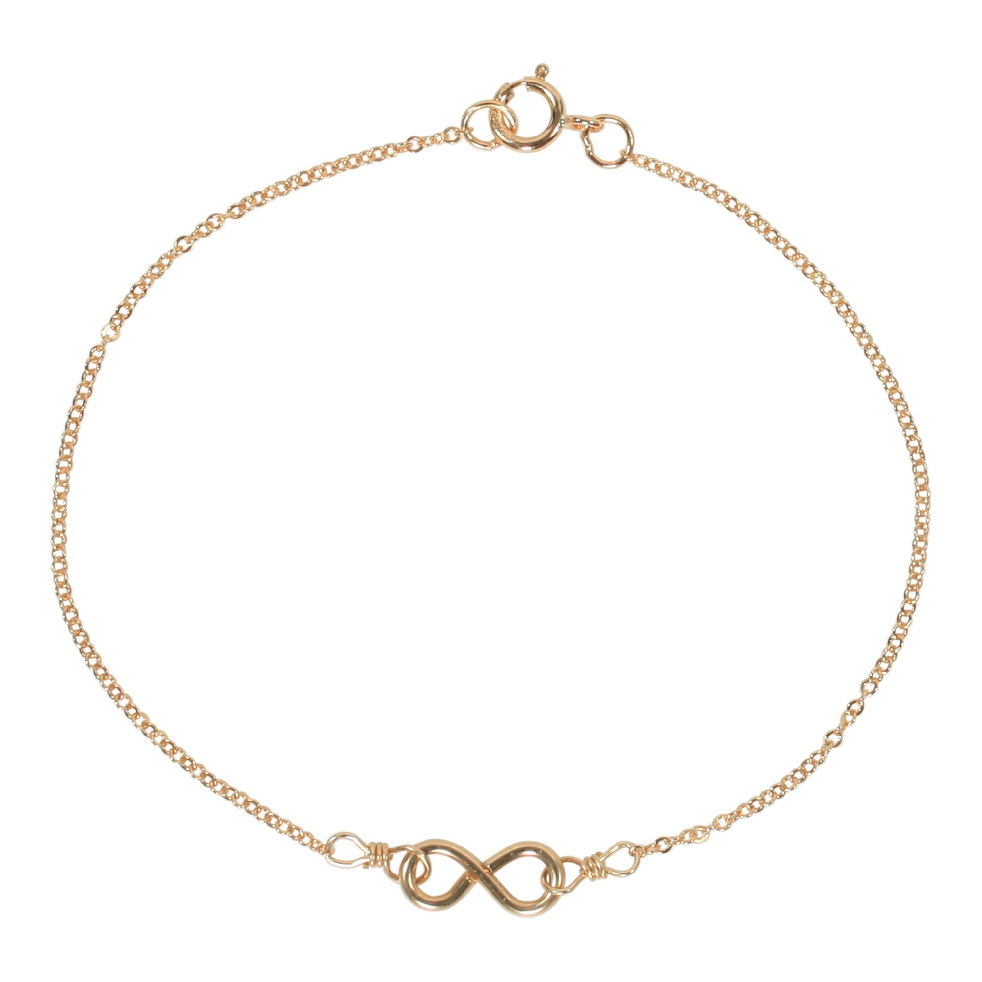 Thin Gold Chain Bracelet: Tiny Infinity Bracelet On Thin Chain