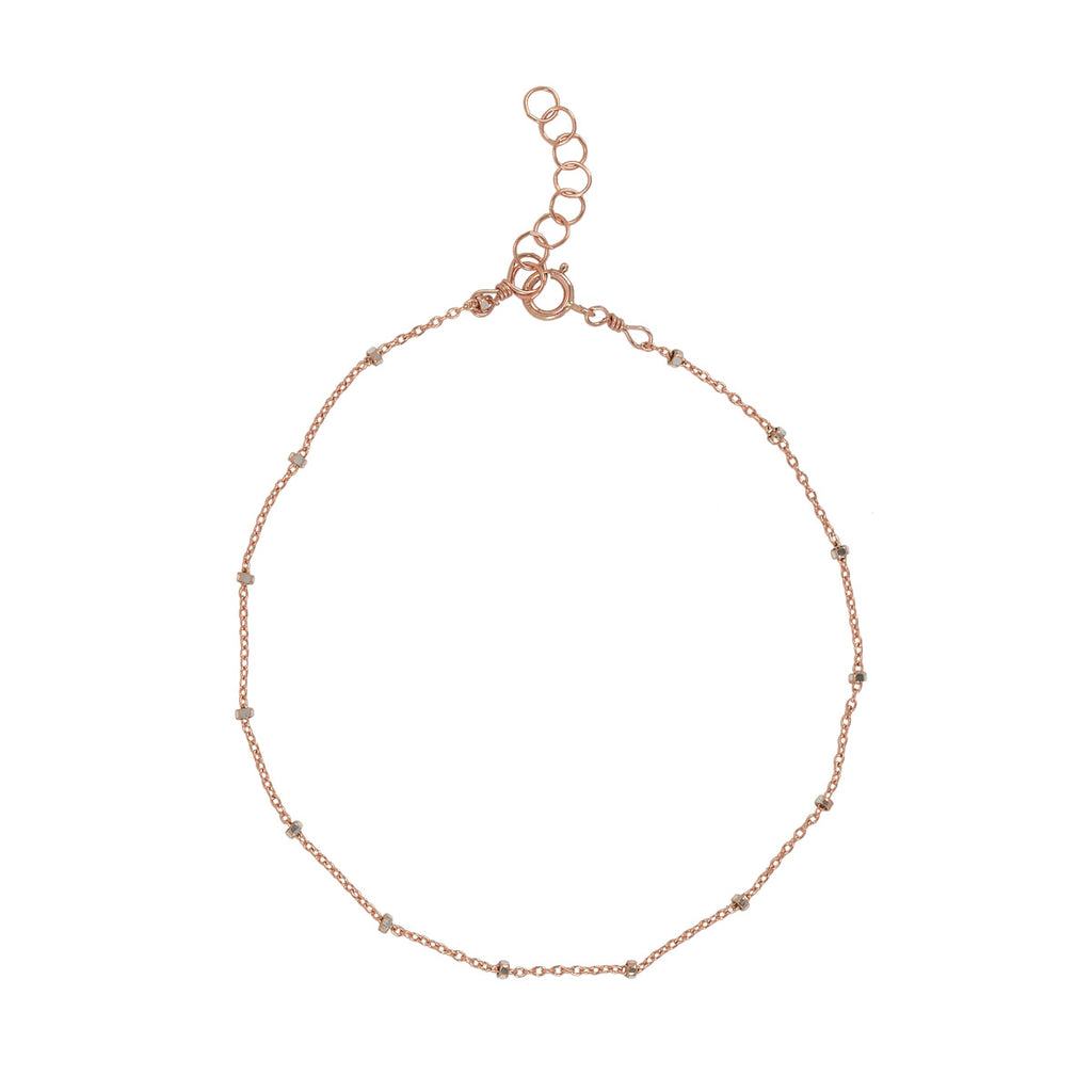2-Tone Ball Chain Anklet