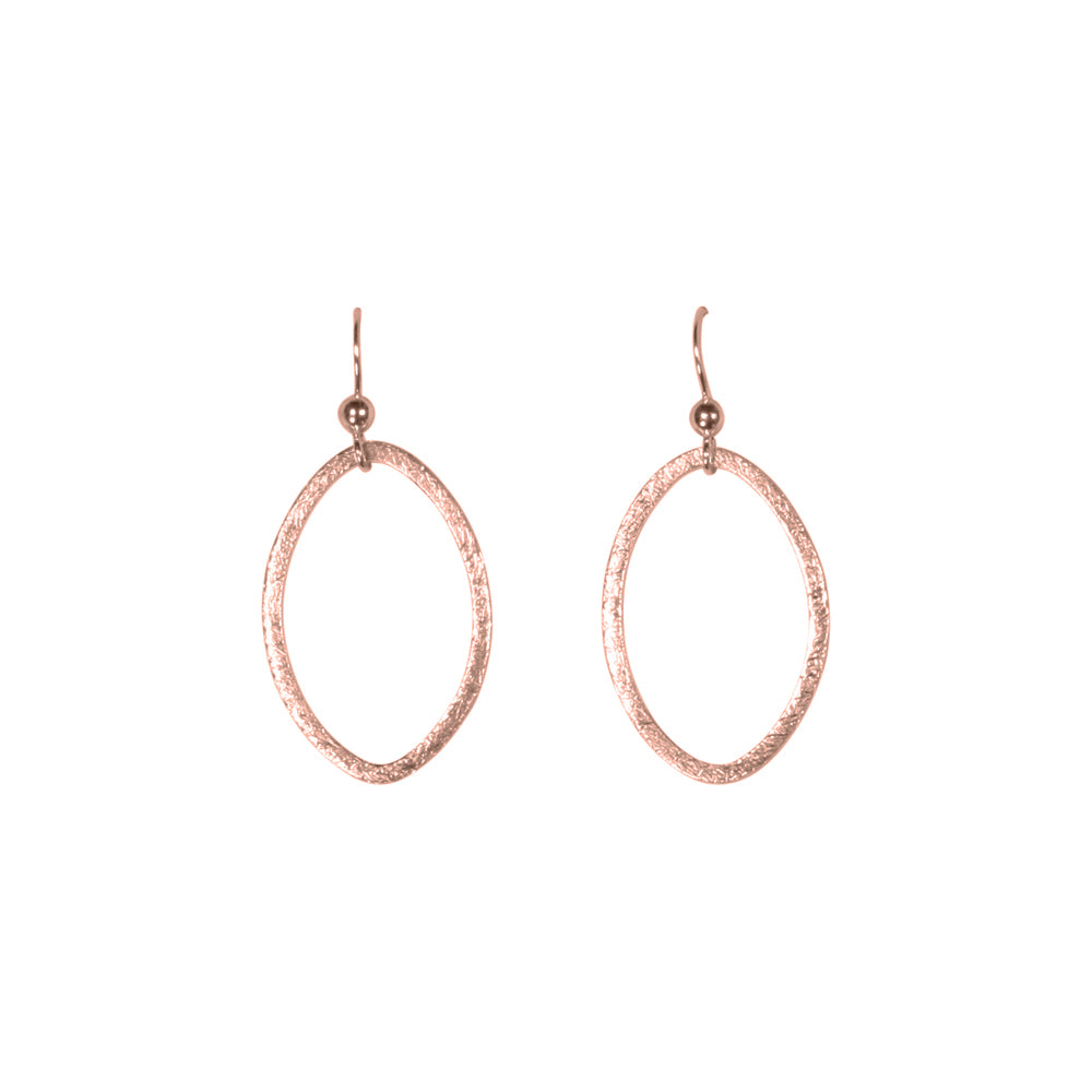SALE - Brushed Marquise Earrings