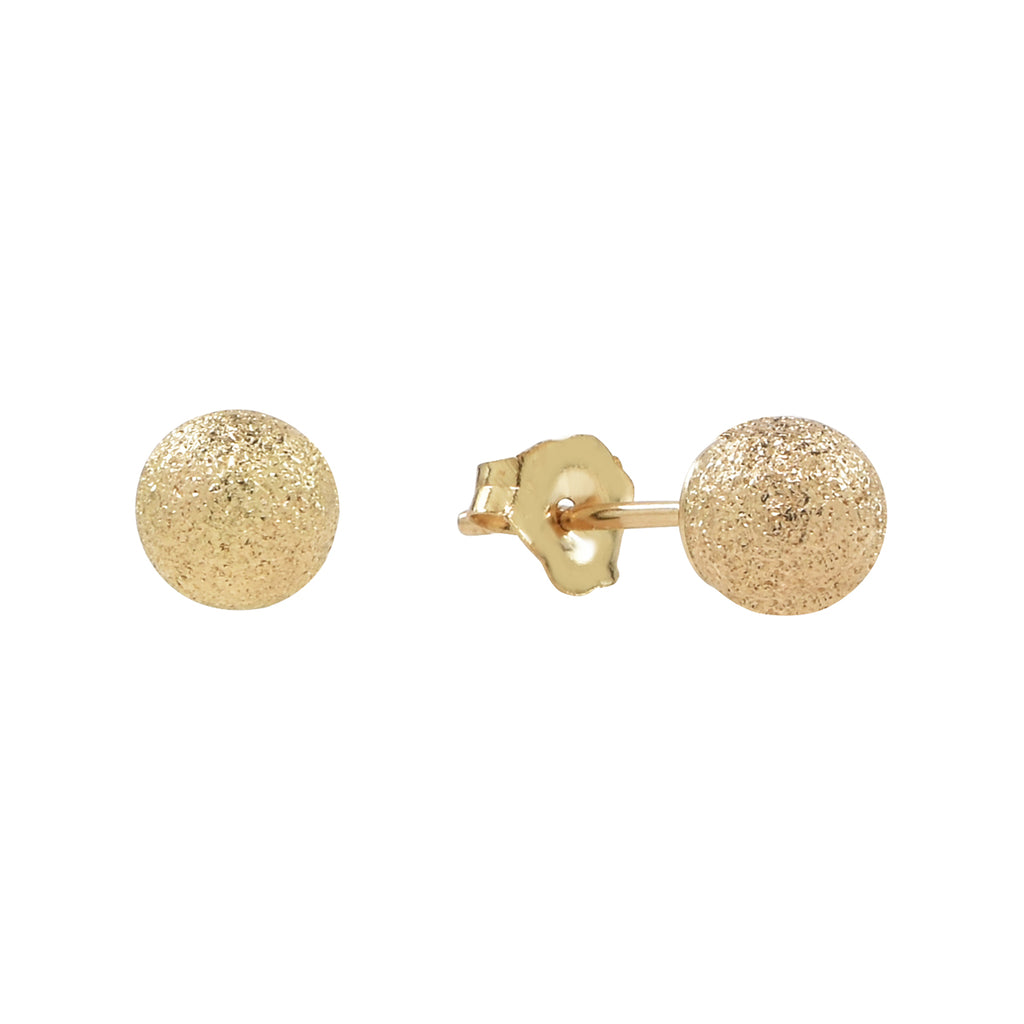 14K Solid Gold Stardust Studs