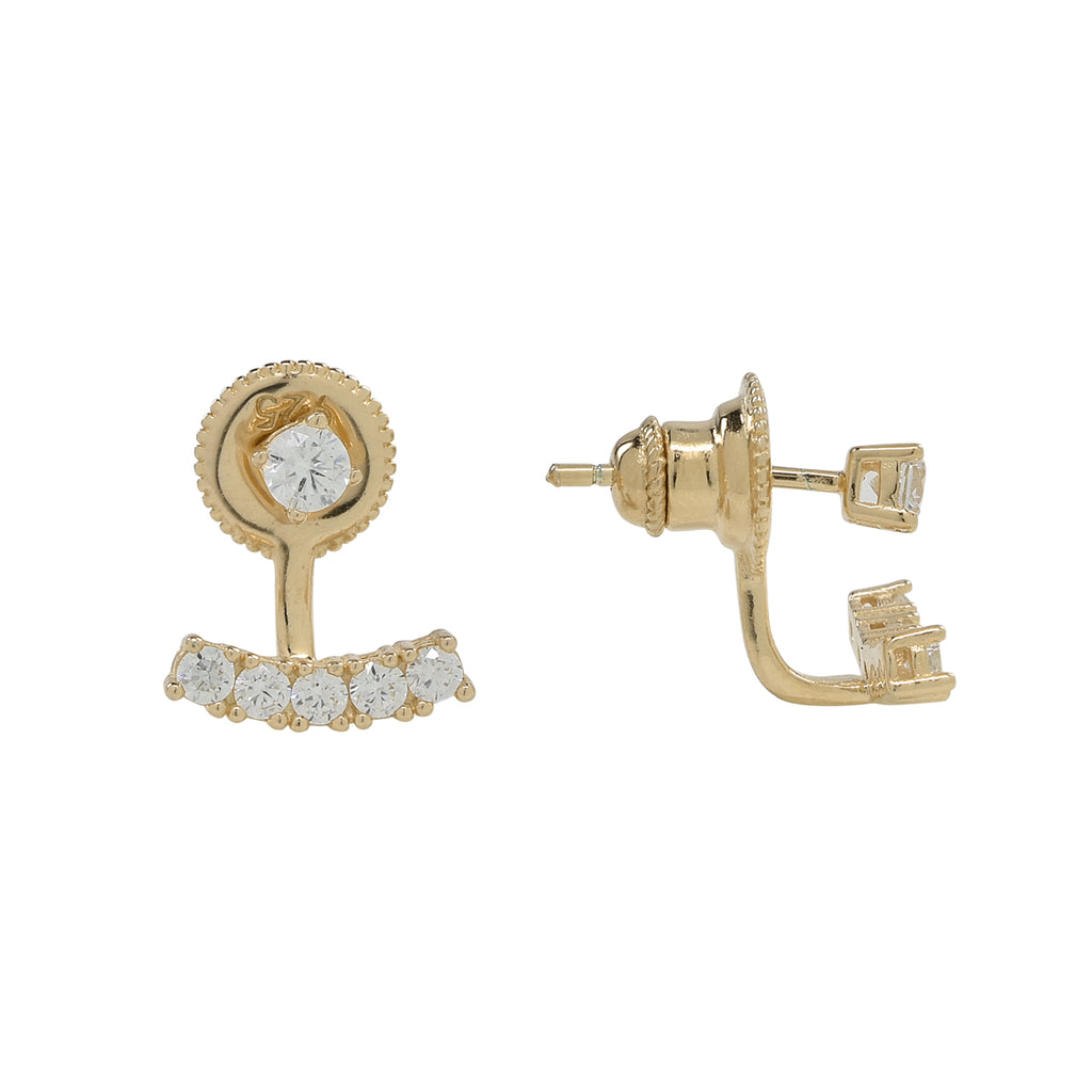 Curved Multi-CZ Ear Jacket
