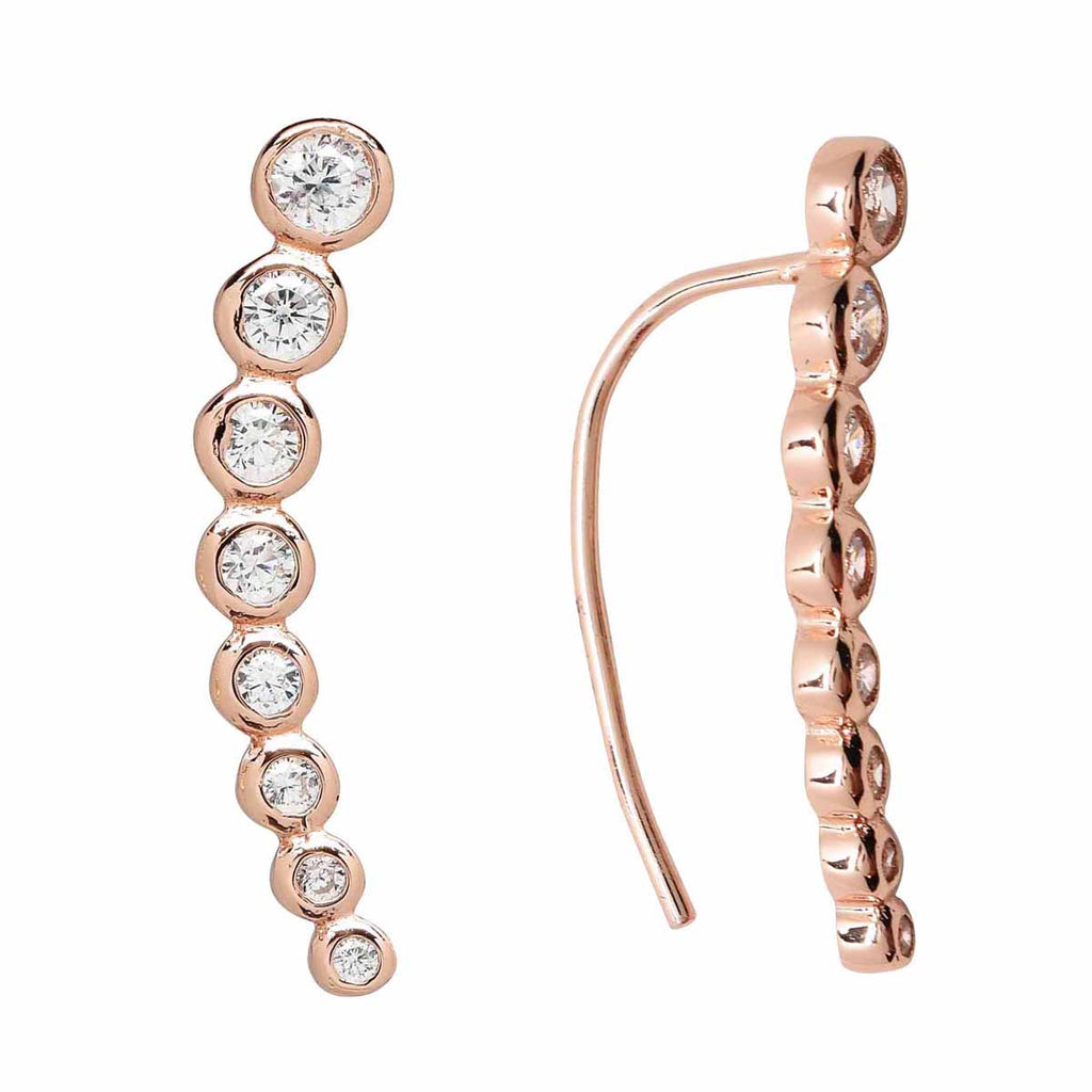 SALE - 24mm Graduated CZ Circles Ear Crawler