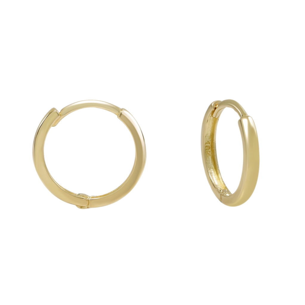 10k Solid Gold Huggie Hoops