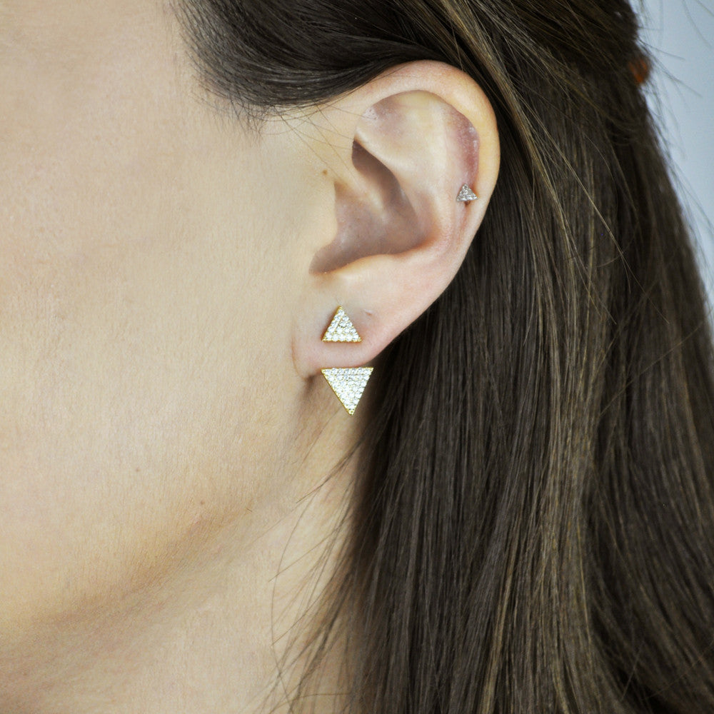 Multi CZ Double Triangle Ear Jacket