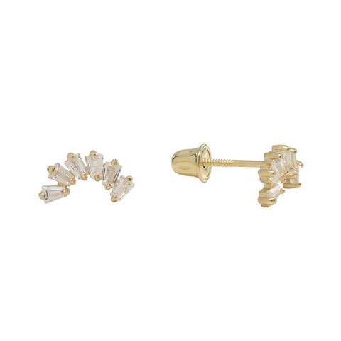 Large Pave CZ Bar Studs