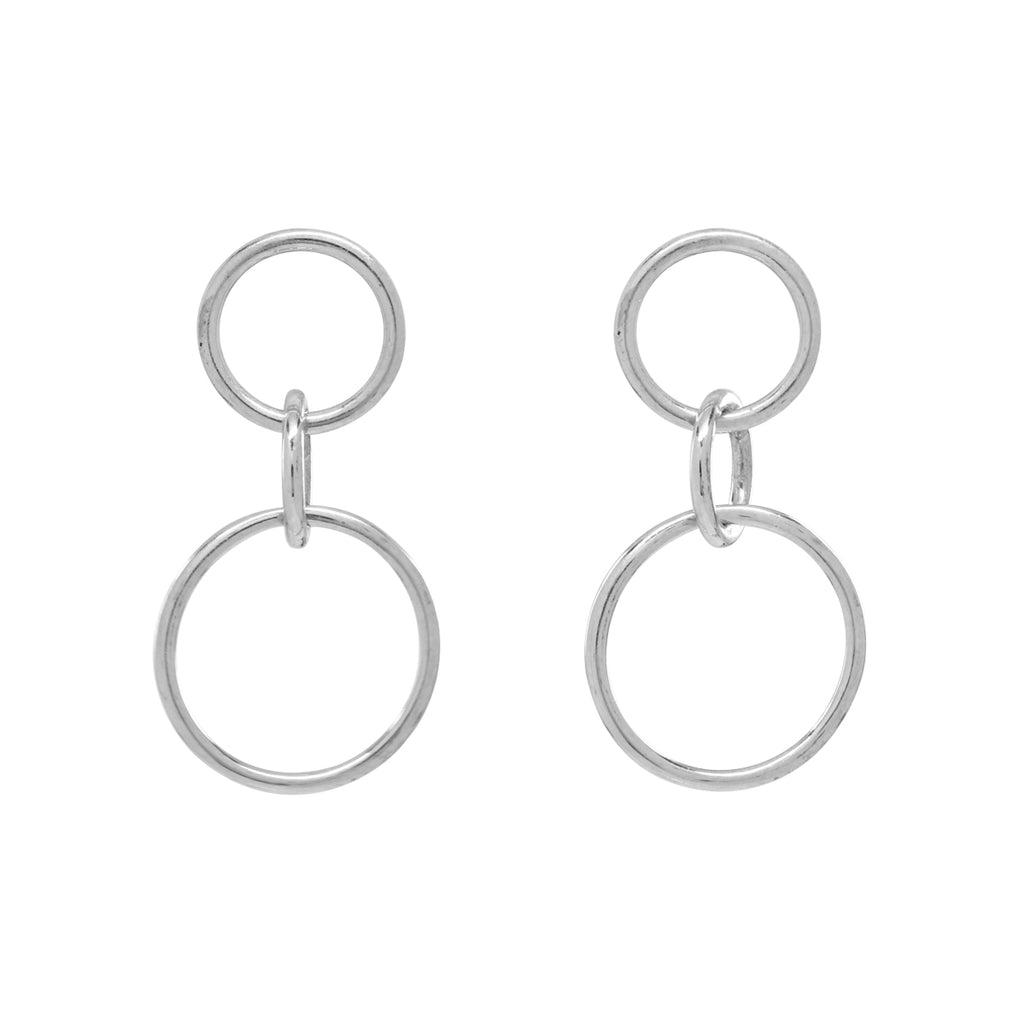 SALE - 10k Solid Gold Triple Interlocking Circle Studs