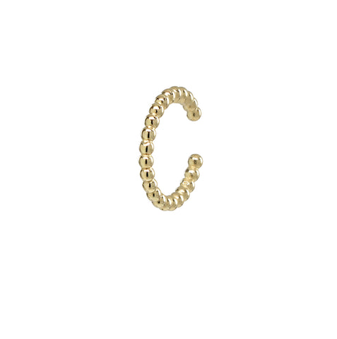 10k Solid Gold CZ Middle Ear Cuff