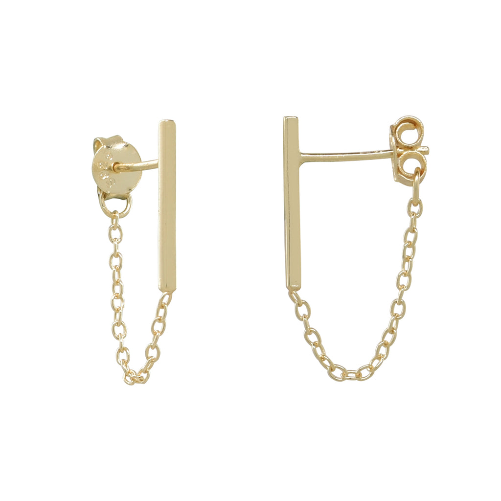 Bar Chain Dangle Studs