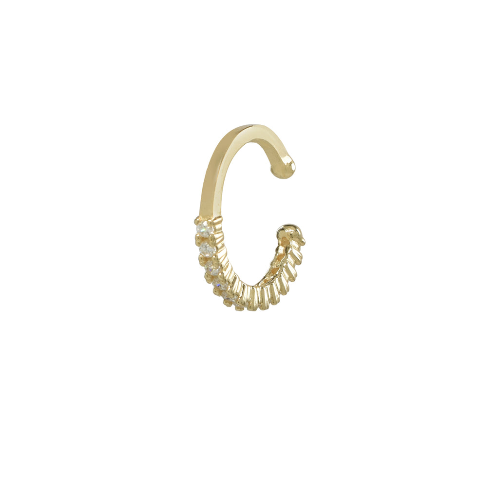 CZ Prong Middle Ear Cuff