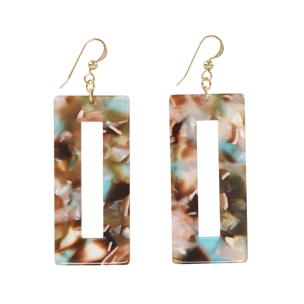 SALE - Rectangular Lucite Earrings (more Colors)