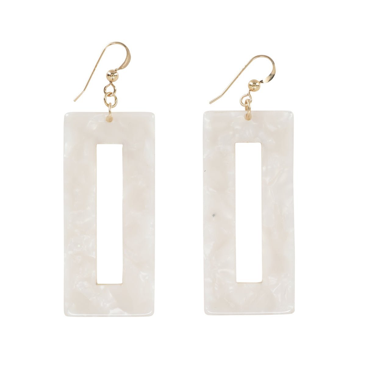Rectangular Lucite Earrings (more Colors)