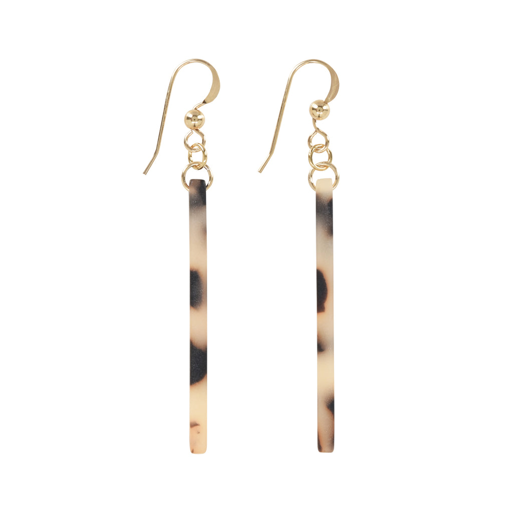 Bar Lucite Earrings (more Colors)