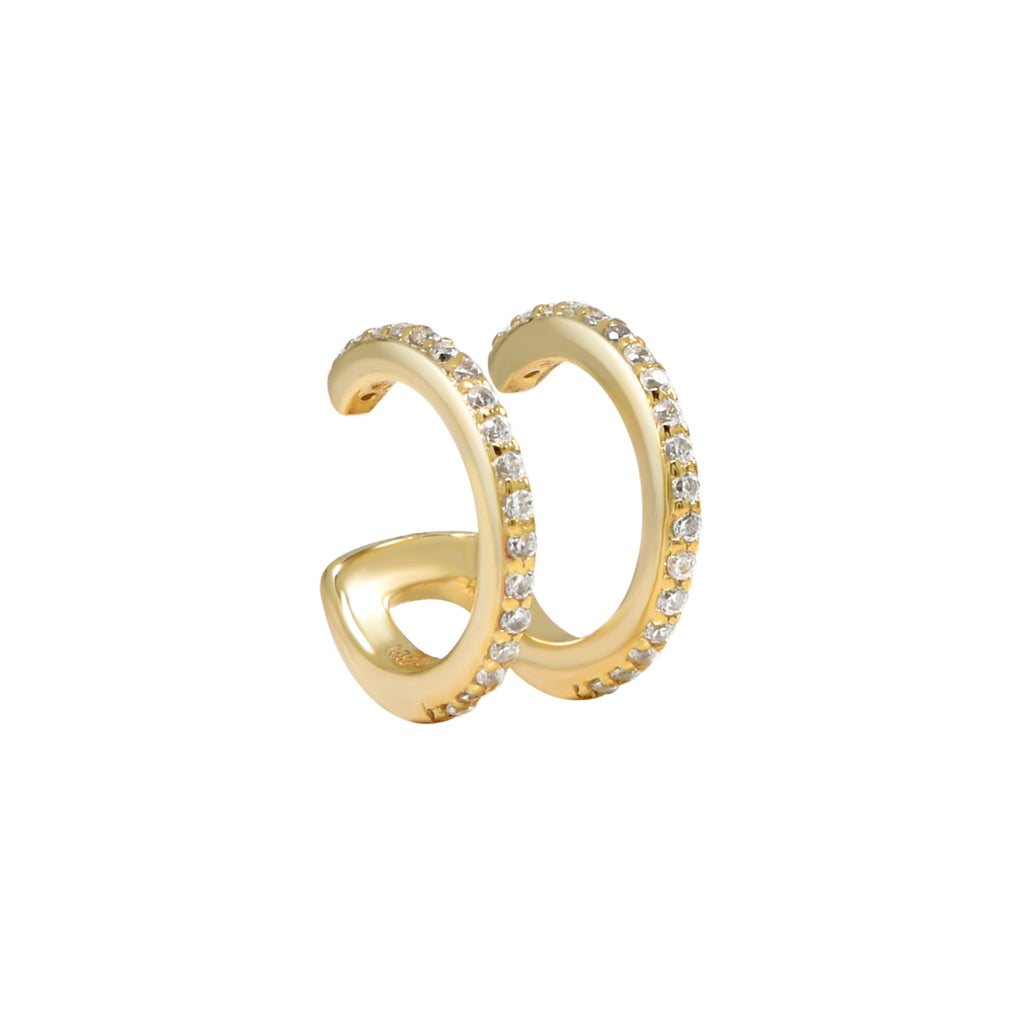 CZ Double Line Ear Cuff