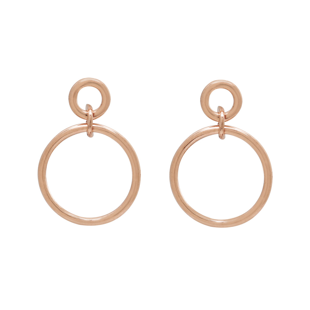 SALE - 10k Solid Gold Interlocking Circles Studs