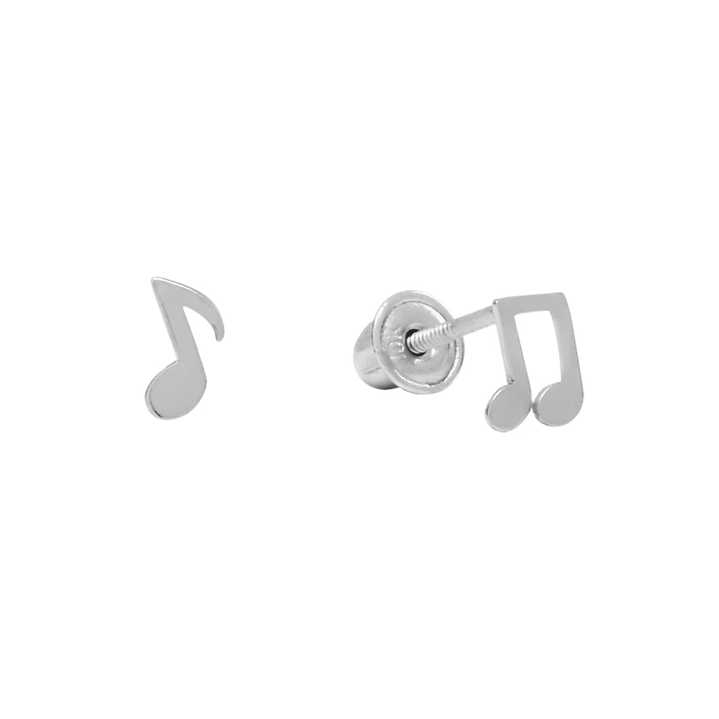 10k Solid Gold Music Notes Studs