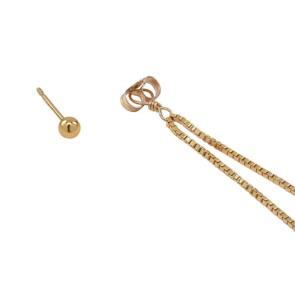 Detachable Rolo Chain Sphere Studs