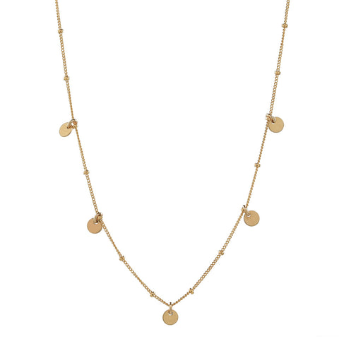 SALE - Solid Gold Triple Faceted Mirror Balls Necklace