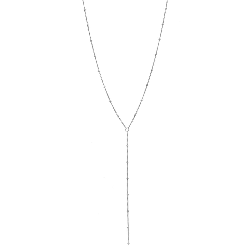 Y-Drop Ball Chain Necklace