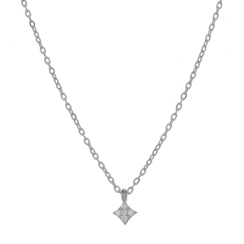 CZ Tiny Rhombus Necklace