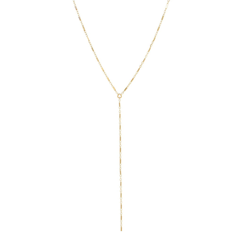 "Flat Multi-Bar Y Necklace w/ 4"" drop"