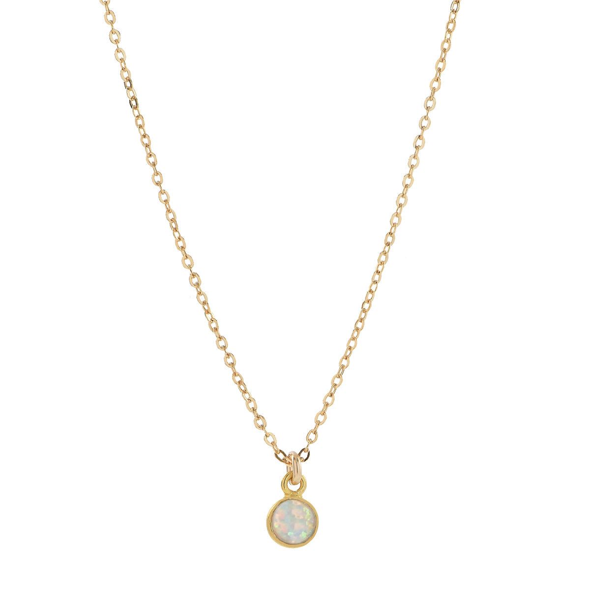 Circle Opal Necklace