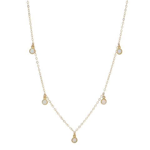 Triangle Opal Necklace