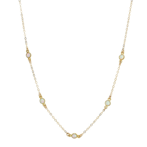 Opal Y-Drop Necklace