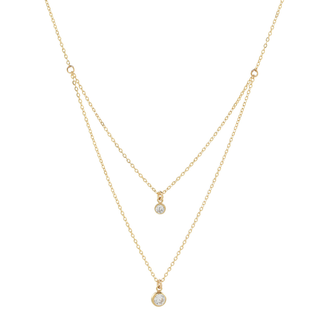 Double Strand CZ Necklace