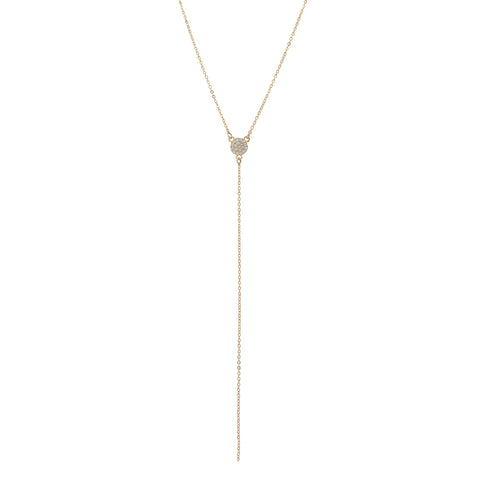 CZ Pave Y-Drop Necklace