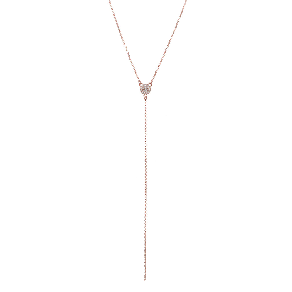 SALE - CZ Pave Y-Drop Necklace