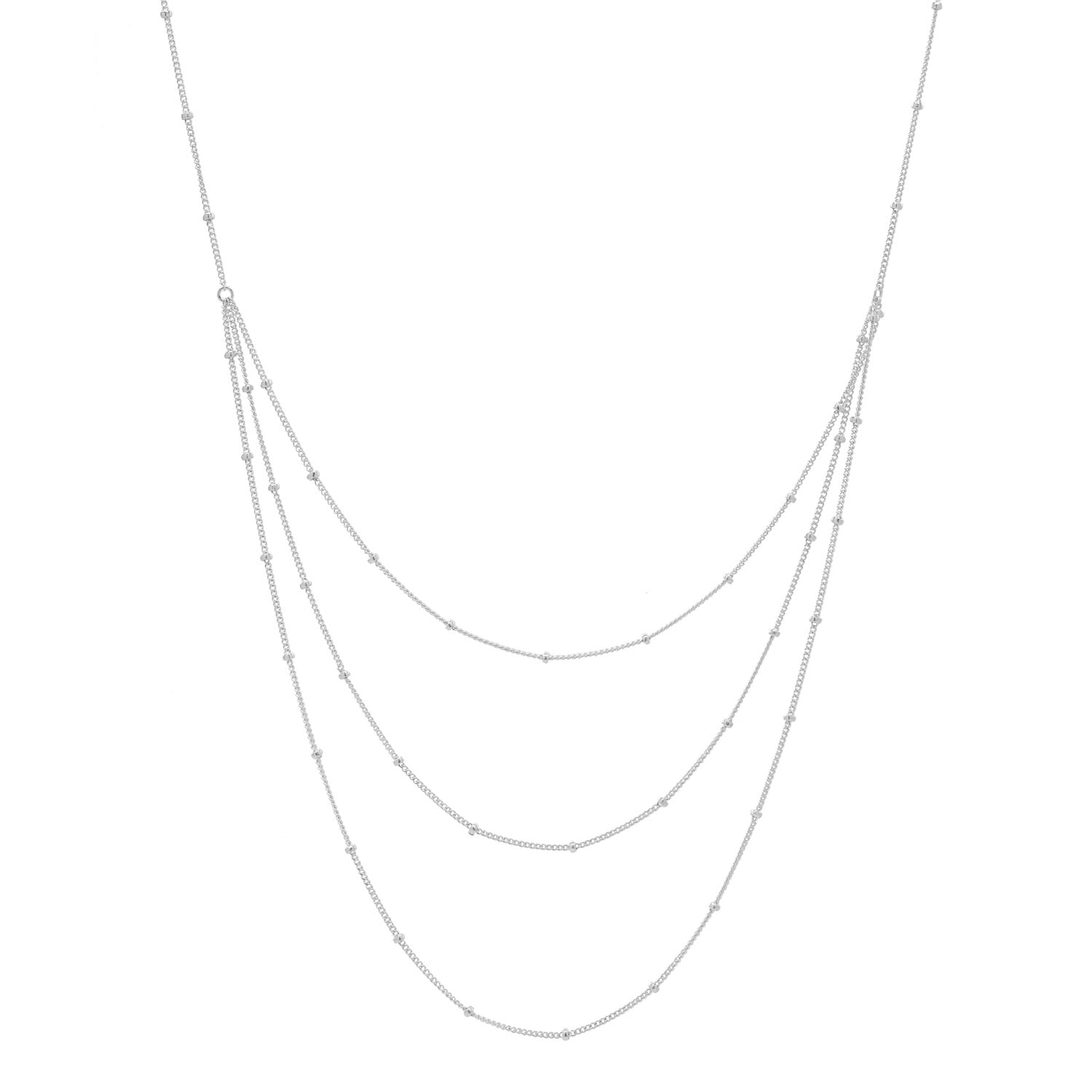 Triple Layer Ball Chain Necklace
