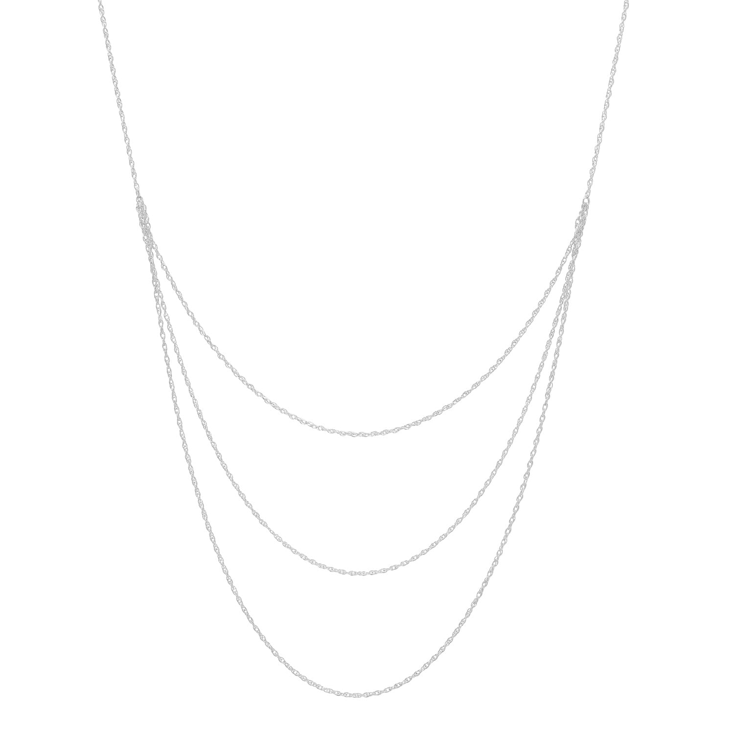 Triple Layer Rope Chain Necklace