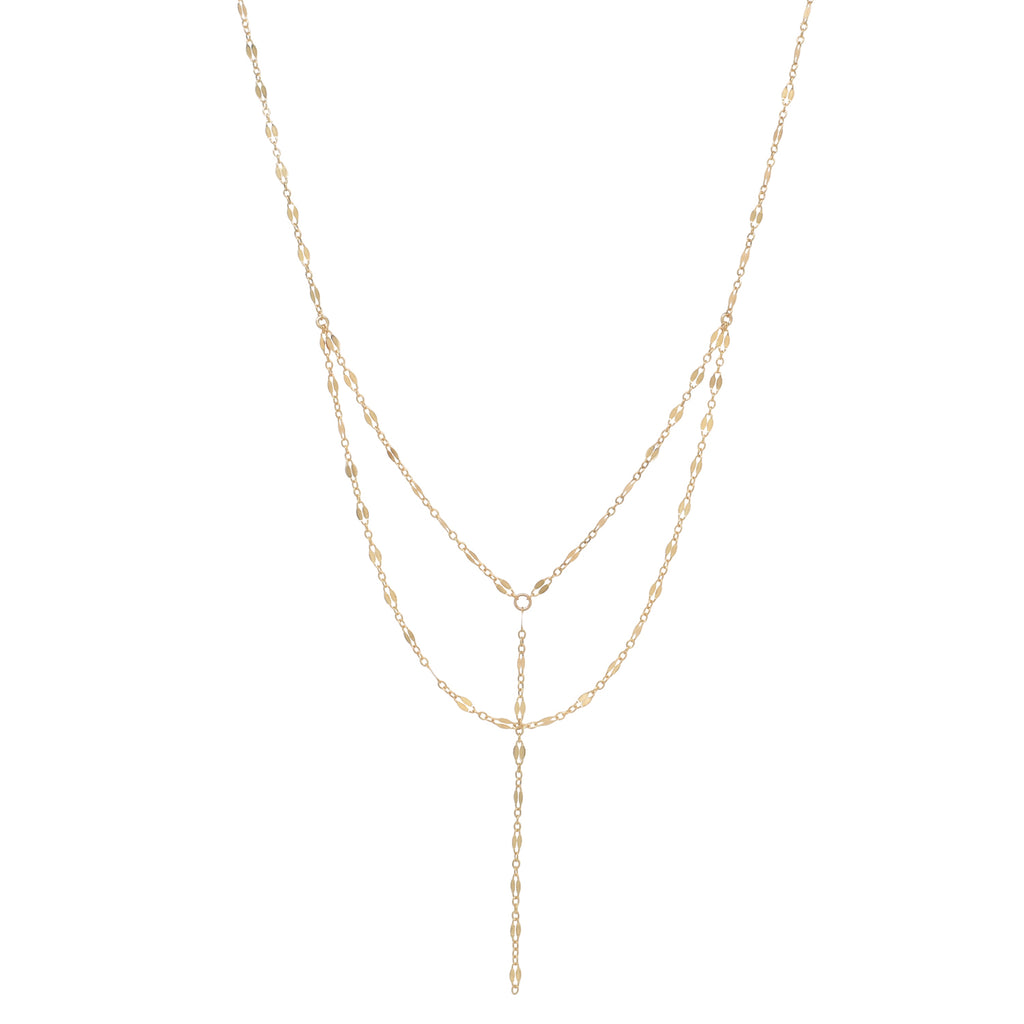 Double Layer GL Y-Necklace